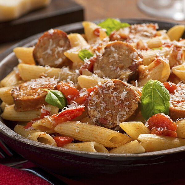 Mild Duroc Pork Italian Sausage Links - Cooked